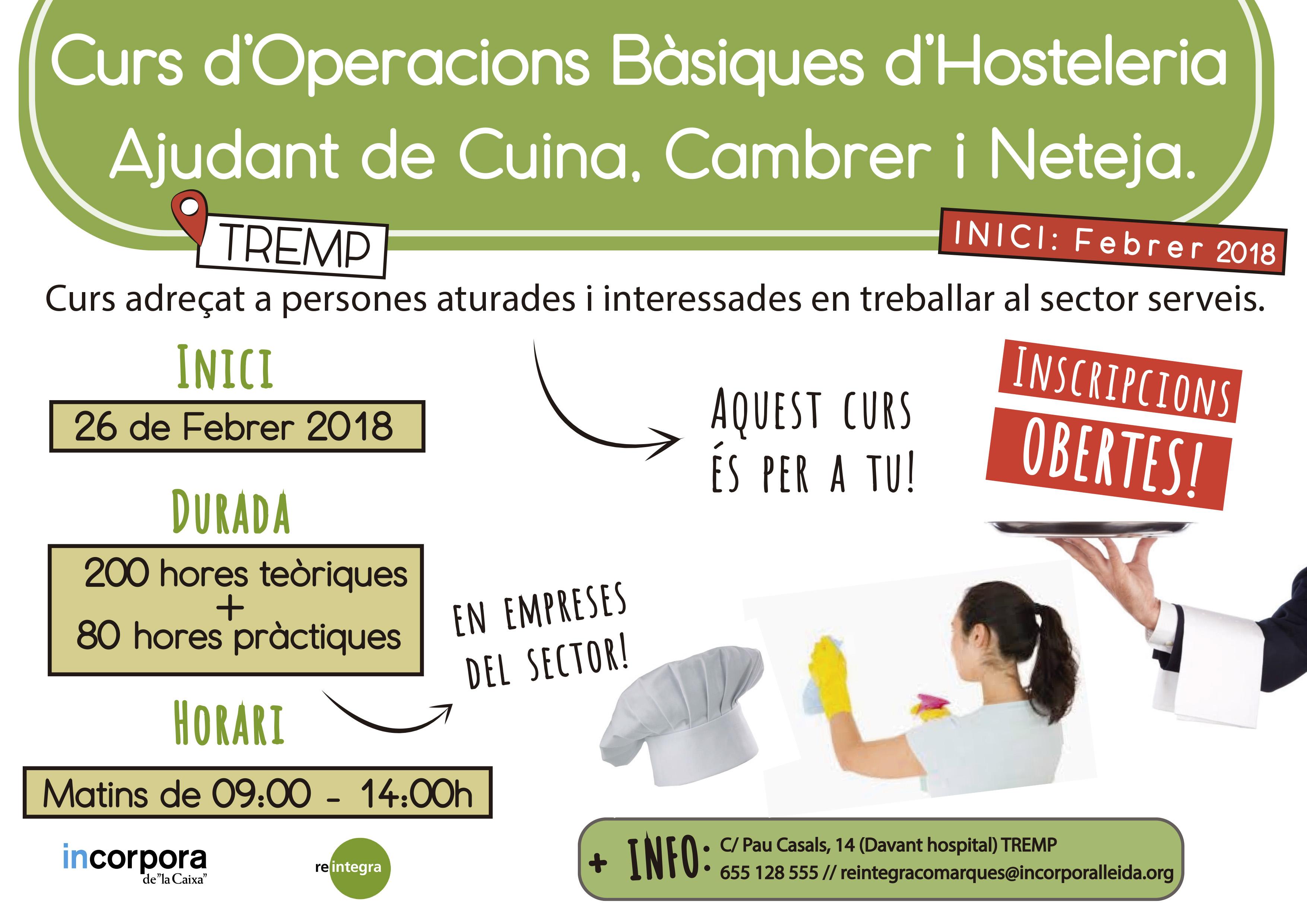 Curs Hosteleria Tremp - Febrer 2018